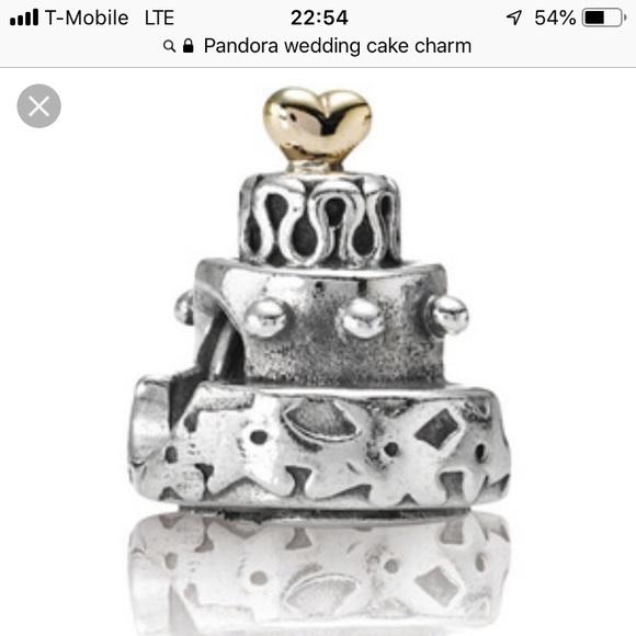 Astonishing Pandora Jewelry Wedding Cake Charm Poshmark Birthday Cards Printable Opercafe Filternl